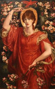 A Vision of Flammetta (1878), by Dante Gabriel Rossetti. Image courtesy of Wiki-Commons.
