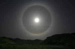 Halo around the Sun in Utah [photo image from U.S. NASA, seen via National Ice & Snow Data Center]