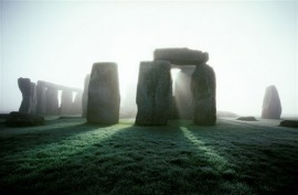 Fog lifting at Stonehenge, Wiltshire, U.K. [Photo from Outdoors Magic - Walking Stonehenge]
