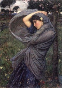 Boreas, by John William Waterhouse (1903), Image courtesy of WikiCommons.