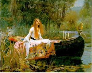 The Lady of Shalott (John William Waterhouse 1888)