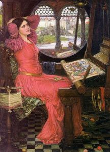 """I am half-sick of shadows,"" said the Lady of Shalott (John William Waterhouse, 1916)"