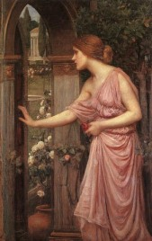 Psyche Entering Cupid's Garden (John William Waterhouse)
