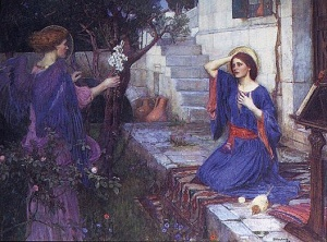 The Annunciation of Mary, by John William Waterhouse