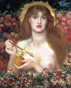 Dante Gabriel Rossetti, Venus Verticordia (1864-8), Russell-Cotes Art Gallery and Museum, Bournemouth