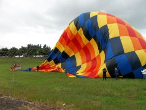 A grounded hot air balloon. [Oregon.gov]