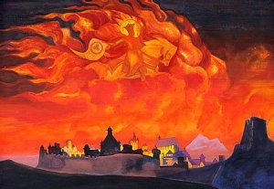 'Sophia - the Wisdom of the Almighty (Santa Protectrix)' by Nicholas Roerich, 1932