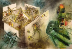 The Unthinkable, by Roberto Matta (11/11/1911 –  11/23/ 2002). Image courtesy of WikiMedia.