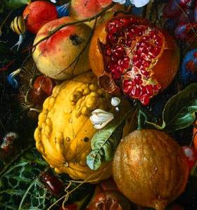 Festoon of Fruit and Flowers, by Jan Davidsz de Heem (1606-1684)