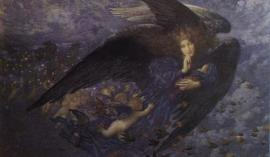 Night and Her Train of Stars, by Edward Robert Hughes (1849-1914). Image via WikiCommons.