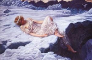 Heart of Snow, by Edward Robert Hughes (1846-1914)