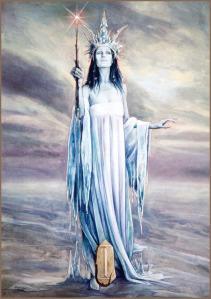 Isa, Winter Queen, from Runes of Elfland, by Brian Froud (see link below)