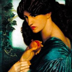 Proserpine (Persephone), by Dante Gabriel Rossetti, 1874