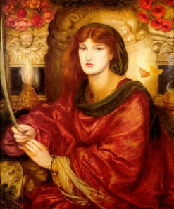 Sibylla Palmifera (1866–1870), by Dante Gabriel Rossetti. Now in the Lady Lever Gallery. Image courtesy WikiCommons.