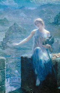 The Valkyries Vigil, by Edward Robert Hughes (Image courtesy WikiCommons)