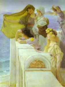 At Aphrodite's Cradle, by Sir Lawrence Alma Tadema.