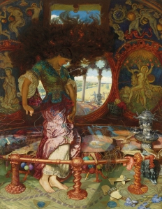 The Lady of Shalott (1886-1905) by William Holman Hunt (Image courtesy of WikiCommons)