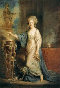 Portrait of a Woman as a Vestal Virgin (1780s), by Angelica Kauffman
