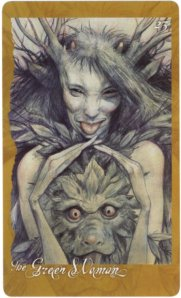 The Green Woman, by Brian Froud (One of my favorites in the Faery Oracle, worldoffroud.com)