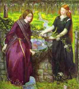 Vision of Rachel and Leah (1855), by Dante Gabriel Rossetti