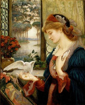 Love's Messenger (1885), by Marie Spartali Stillman