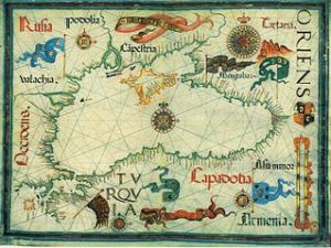 Map of the Black Sea, circa 1559, by Diego Homem. (Image courtesy of Wiki-Commons)