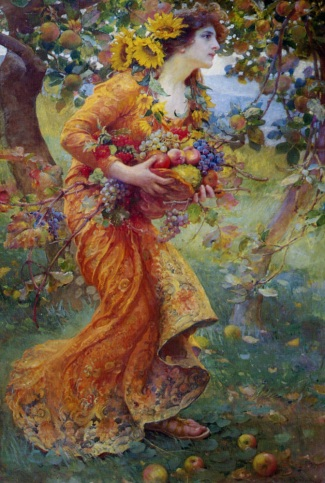 In the Orchard (1912) by Franz Dvorak. Public domain image courtesy of Wikimedia.