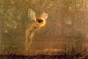 Midsummer Night, Iris; by John Atkinson Grimshaw, 1836-1893