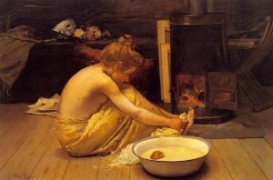 Nina, by Pedro Saenz Saenz (1863-1927)