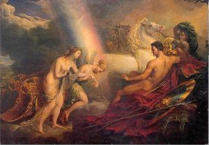 Venus Supported by Iris, Meeting With Mars; 1820 by the artist Sir George Hayter.