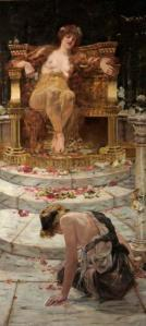 Psyche at the Throne of Venus (1883), by Edward Matthew Hale