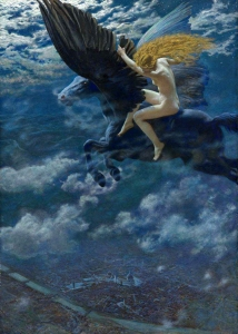 Dream Idyll - A Valkyrie, 1902, by Edward Robert Hughes.