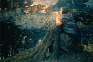 Summer Fantasy, 1911, by Edward Robert Hughes. [Image courtesy Wiki-Commons]