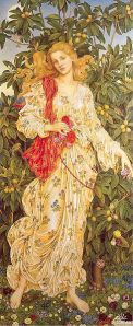 Flora, 1894, by Evelyn Pickering De Morgan (Image from Wiki-Commons)