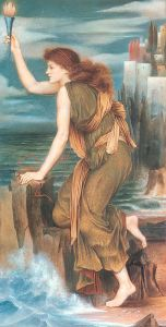 Hero Awaiting the Return of Leander, 1885, by Evelyn De Morgan.