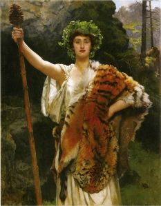 The Priestess of Bacchus (1889), by John Collier.