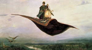 Magic Carpet Ride, by Viktor Vasnetsov (1848-1926). Public domain image courtesy of Wikimedia.