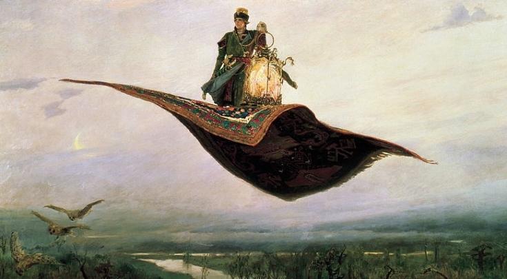 Magic Carpet Ride, by Viktor Vasnetsov (1848-1926).