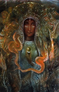 Green Sophia, by Daniel Mirante, contributing artist to the Artists Envisioning the Divine project. Learn more about the Artists Envisioning the Divine Project at the link below this post.