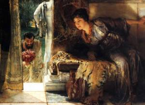 Welcome Footsteps, 1883, by Sir Lawrence Alma-Tadema. [Image courtesy of WikiMedia]