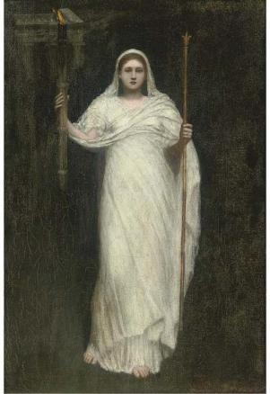 The High Priestess, by Arthur Hacker (1858-1919).