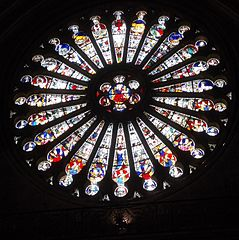 South Rose Window - Christ With the Zodiac, 1451, Cathedral of Saint Maurice.