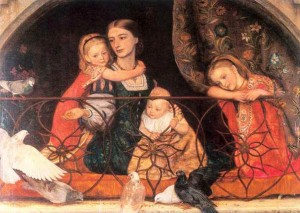 Mrs. Leathart and Her Children, 1865-66, by Arthur Hughes.
