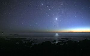 Venus Reflected Over the Pacific. Photo by Brocken Inaglory and generously shared via Creative Commons/Wikipedia.
