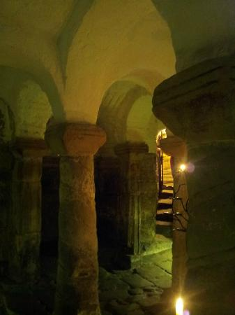 Light in the Crypt of St. Wystan Church, Repton, U.K. [Photo via TripAdvisor]