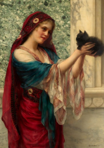 Kitten, 1900, by William Clarke Wontner.