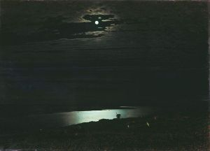 Night on the Dnieper River, 1882, by Archip Iwanowitsch Kuindshi. Public domain image courtesy of WikiMedia.