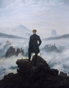 Wanderer Above the Sea of Fog, 1818, by Caspar David Friedrich. Public domain image courtesy of Wikimedia.