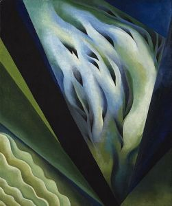 Blue and Green Music, by Georgia O'Keeffe. Public domain image courtesy of WikiMedia.