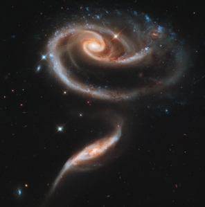 A rose made of galaxies, for the Hubbell 21st anniversary. Photo courtesy of Hubbell gallery, NASA.